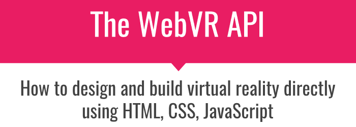 WebVR API presentation first slide